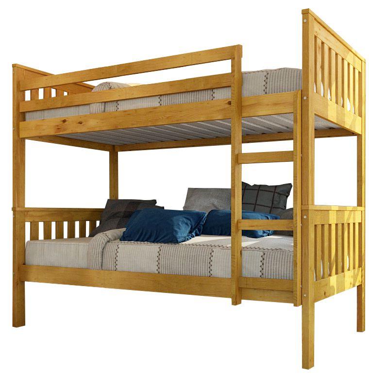 Offerta letto a castello naturale mod beliche - Camere da letto in legno naturale ...