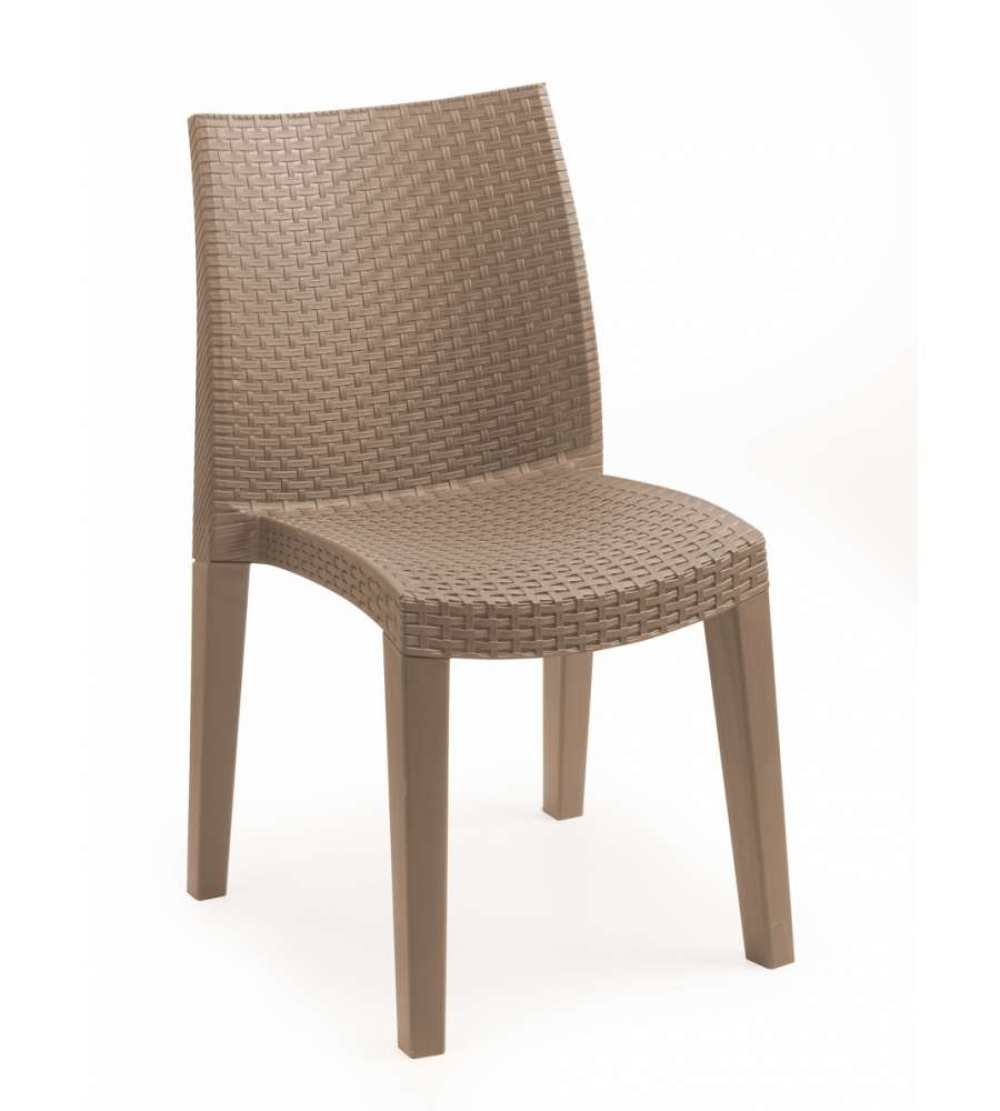 Sedia lady effetto rattan colore taupe for Ikea chaises pliantes et empilables