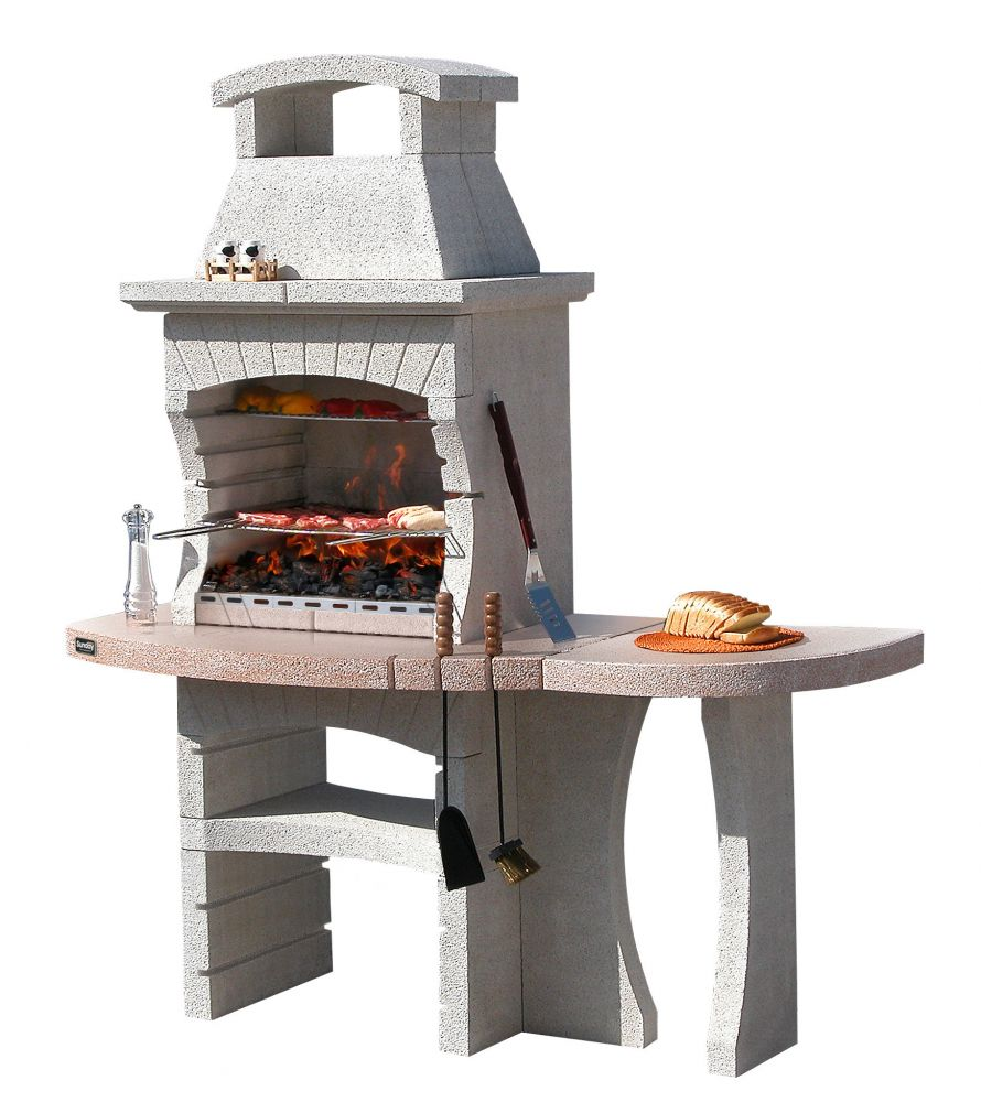 Barbecue sunday congo crystal in muratura per esterno 170x71x201h - Buiten terras model ...