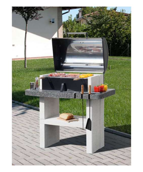 "Barbecue Sunday ""newport Crystal"" In Muratura Per Esterno - 114x71x127h."