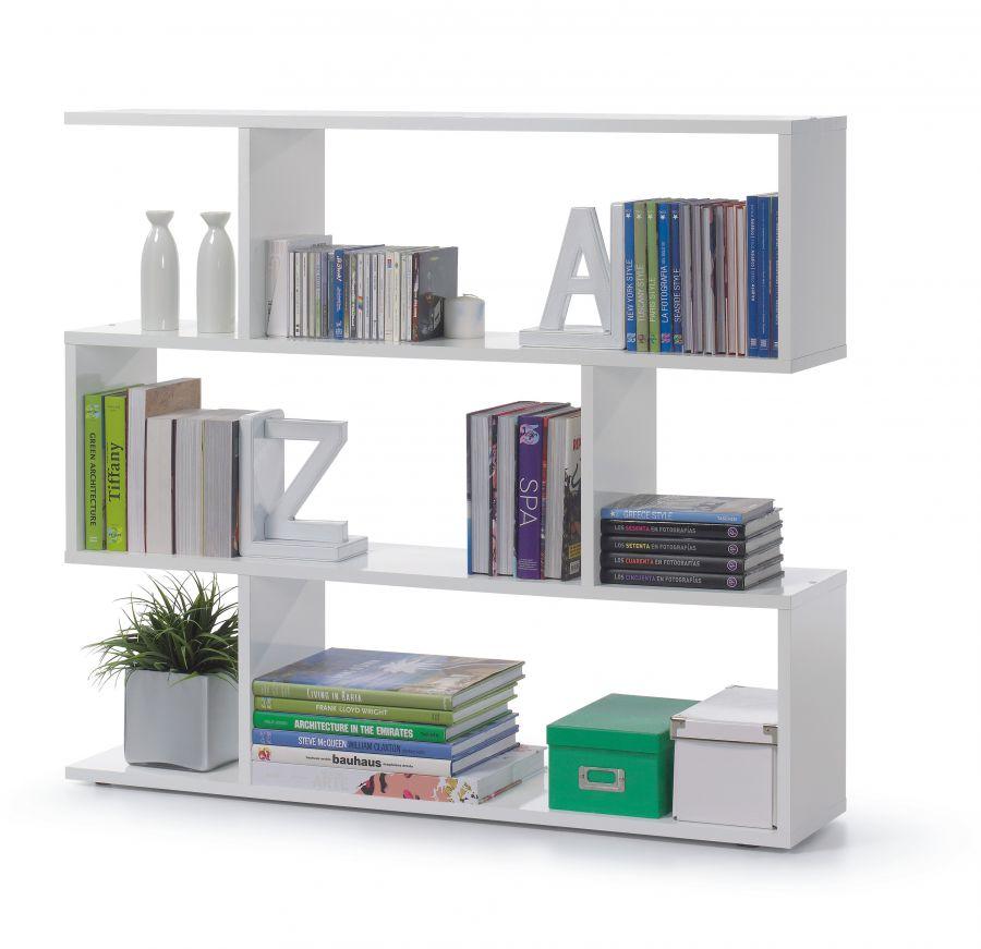 Libreria modello athena colore bianco lucido for Librerias para salones modernos