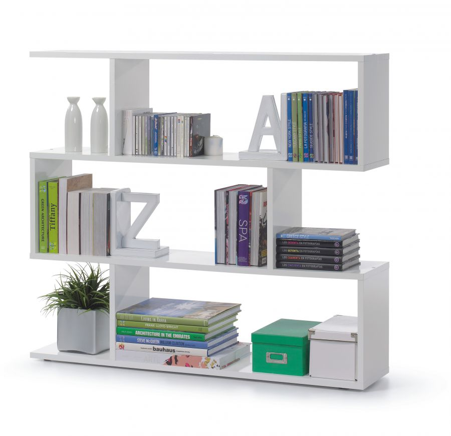 Libreria modello athena colore bianco lucido - Biblioteca madera blanca ...