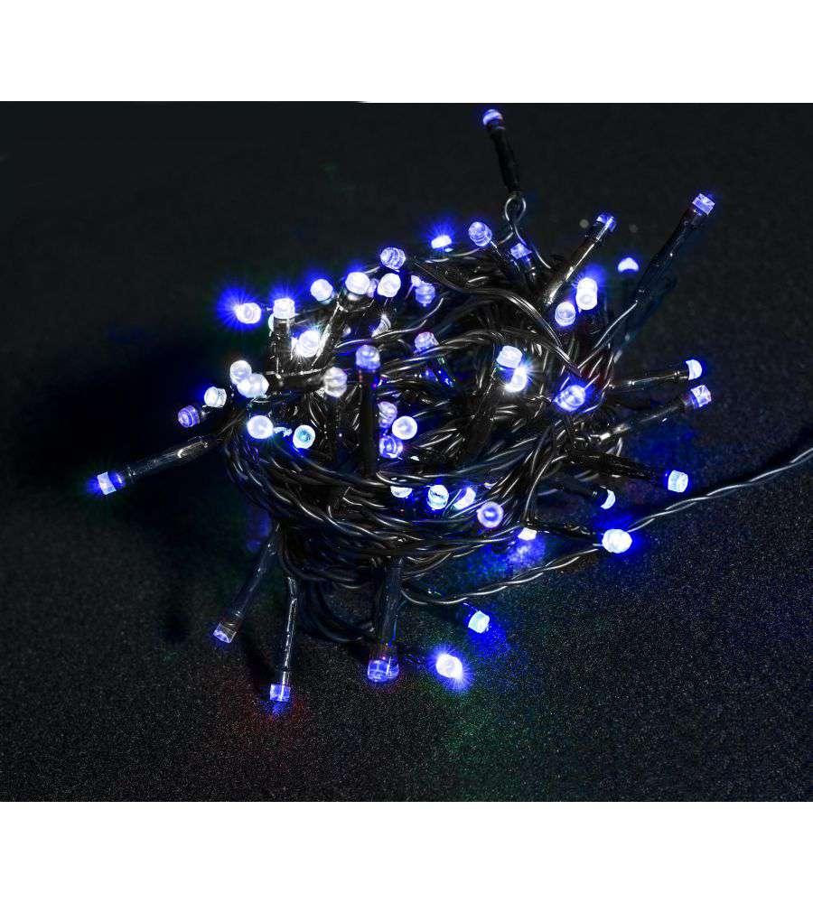 Luci natalizie 180 led con giochi di luce blu for Luce led blu