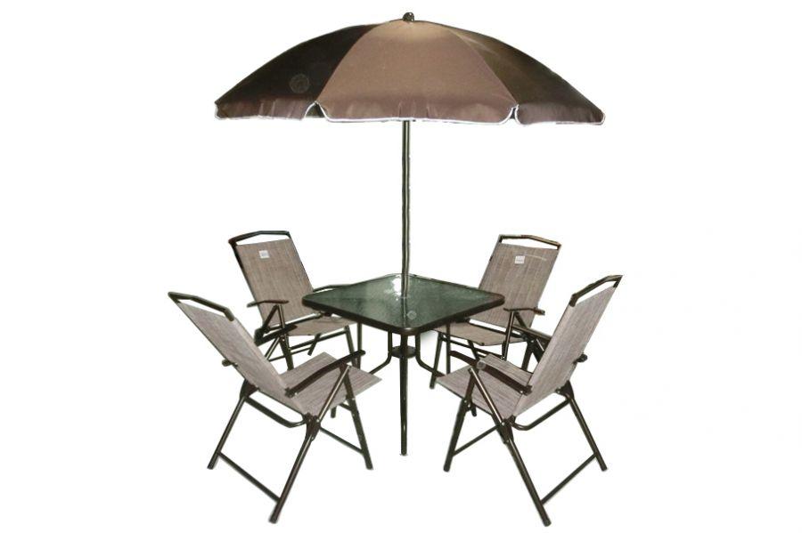 Set da giardino tavolo sedie ombrellone for Set giardino esterno
