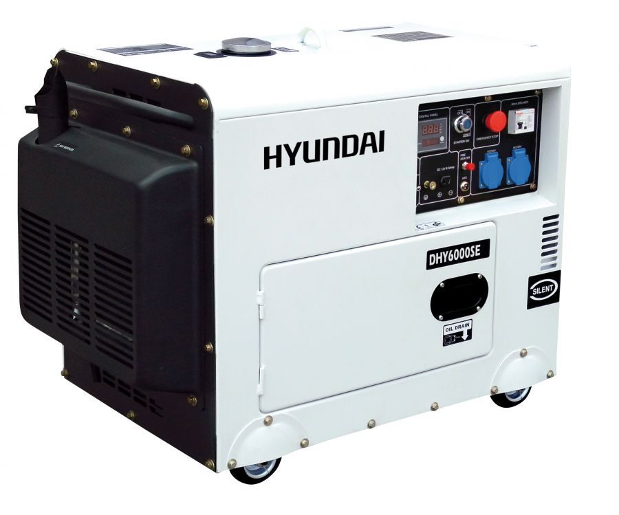 Generatore diesel silenziato 10 hp hyundai for Gruppo elettrogeno diesel 10 kw