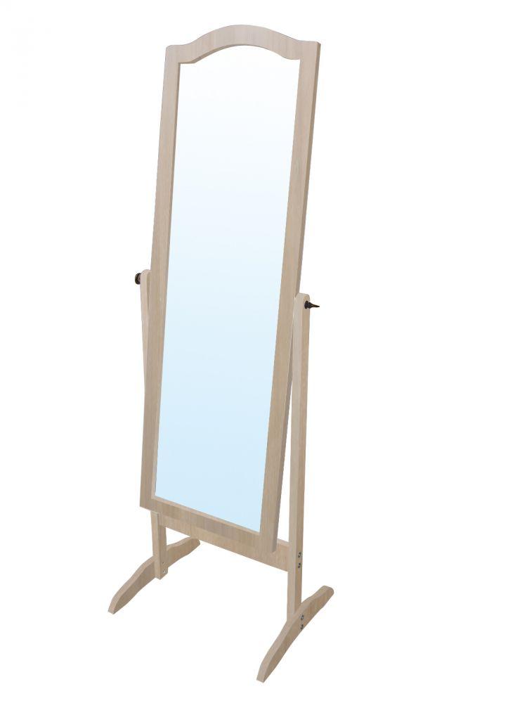 Specchio da terra inclinabile colore quercia 40x45x150h cm for Specchio girevole da terra