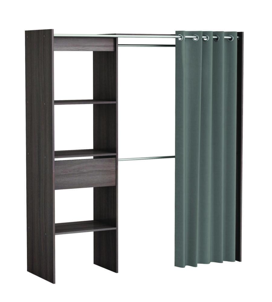 armadio ripostiglio dressing colore rovere vulcano 1682x500x1870h mm. Black Bedroom Furniture Sets. Home Design Ideas