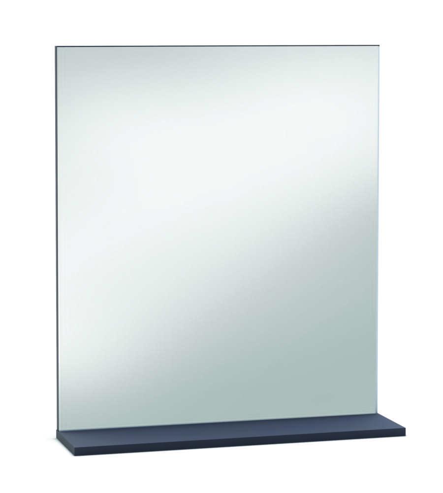 Specchio thais con mensola bianco basalto - Specchio con mensola bagno ...
