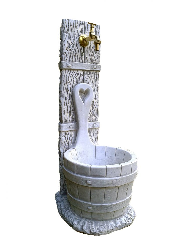 Fontana grigia modello daniela 37x29x79 cm - Fontane a muro da giardino ...