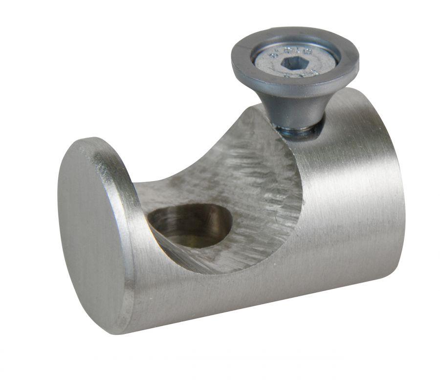 Bastone Tenda A Soffitto.2 Supporti A Soffitto 11 15 Cm Inox Aperto Per Tubo Tenda Diametro 20 Mm