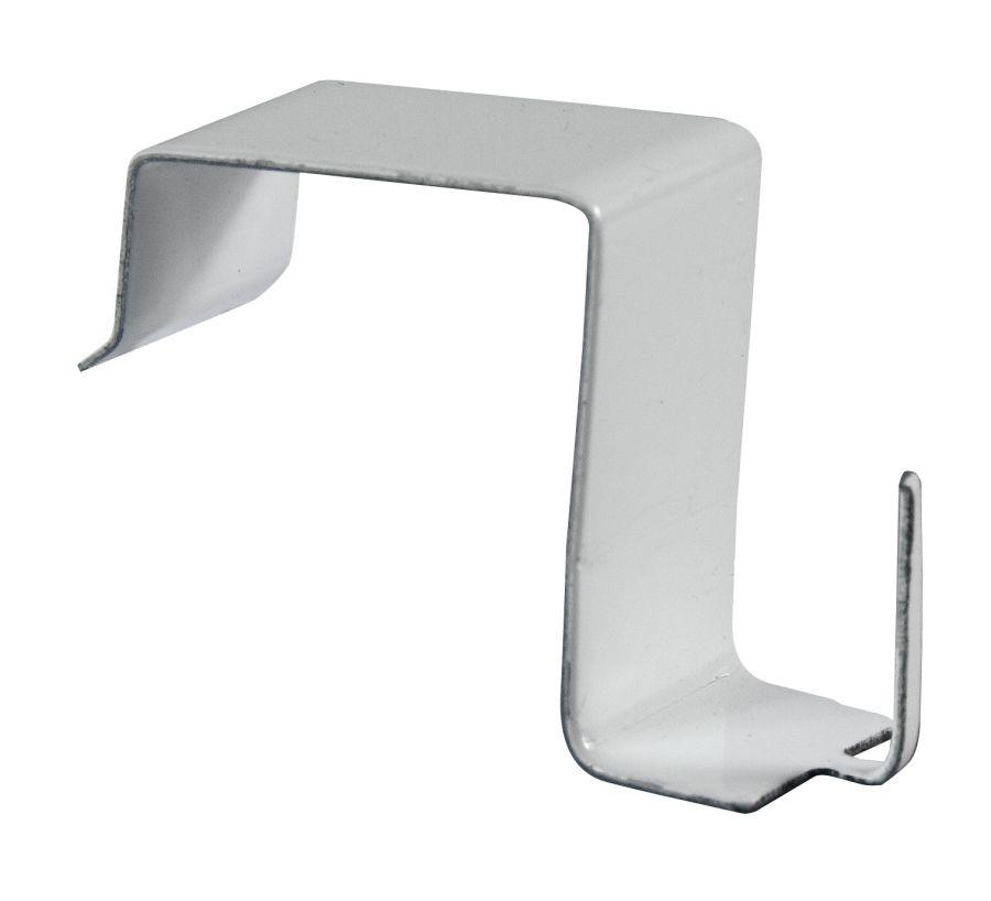 4 ganci in acciaio bianco per astine per non forare i serramenti di legno o di pvc - Tende finestre pvc ...