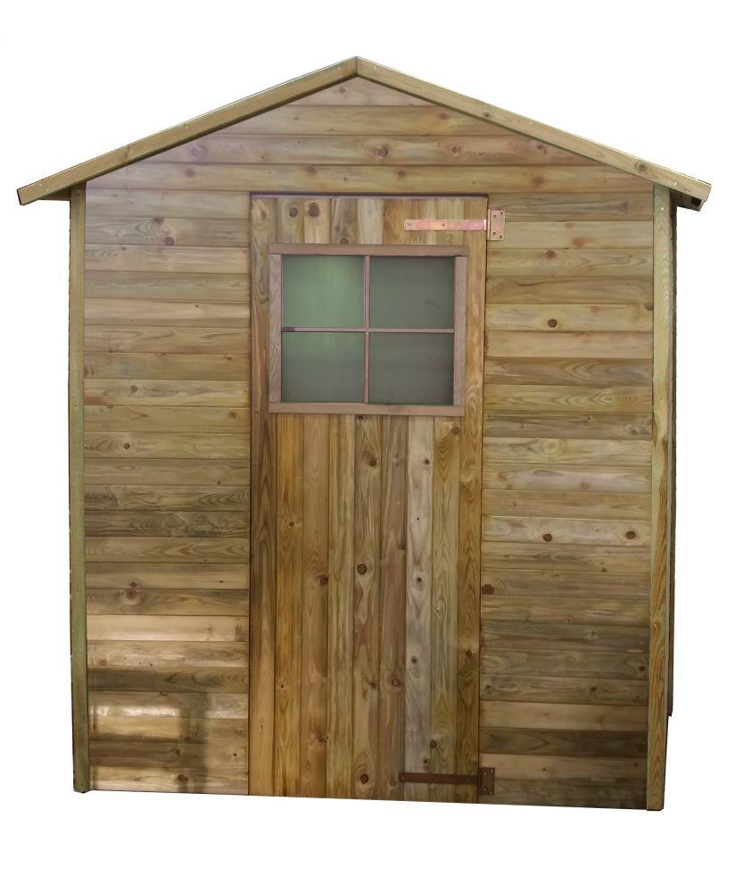 Casetta in legno 199x154x217 cm - Casette legno giardino brico ...