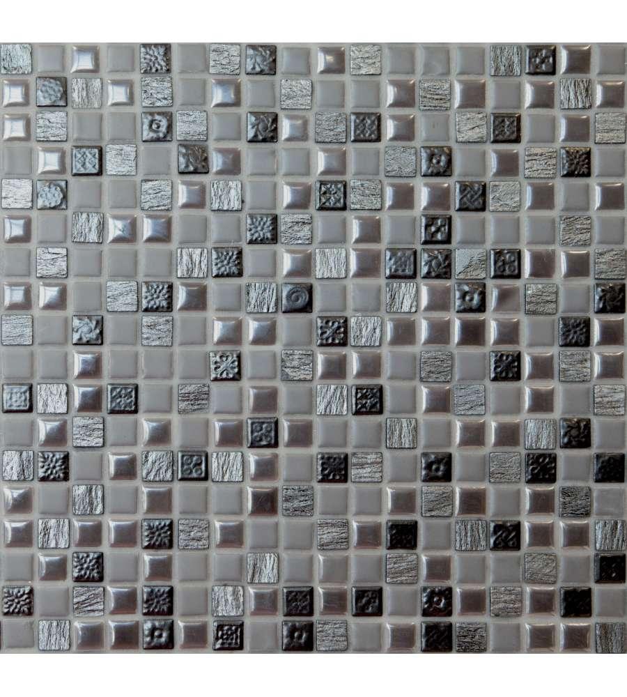 Mosaico in foglio 30x30 cm color grigio ardesia ston - Piastrelle in ardesia ...