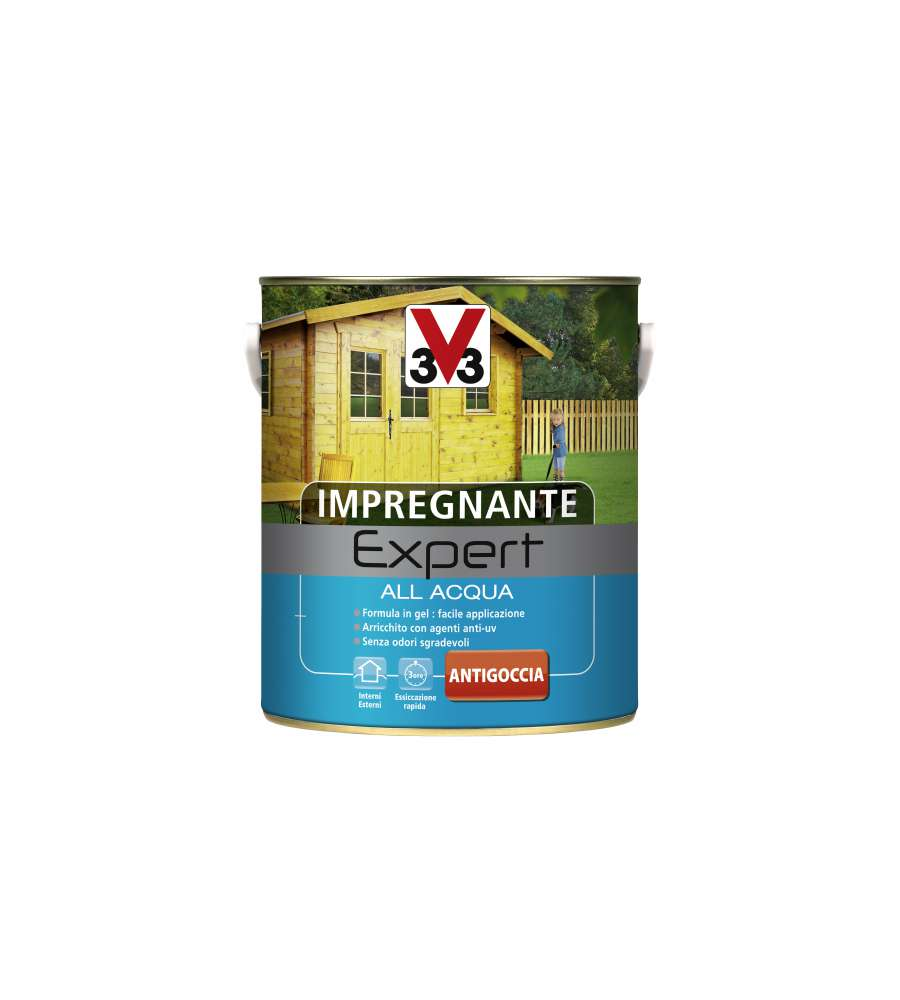 IMPREGNANTE V33 ALL' ACQUA INCOLORE 0,75 LITRI