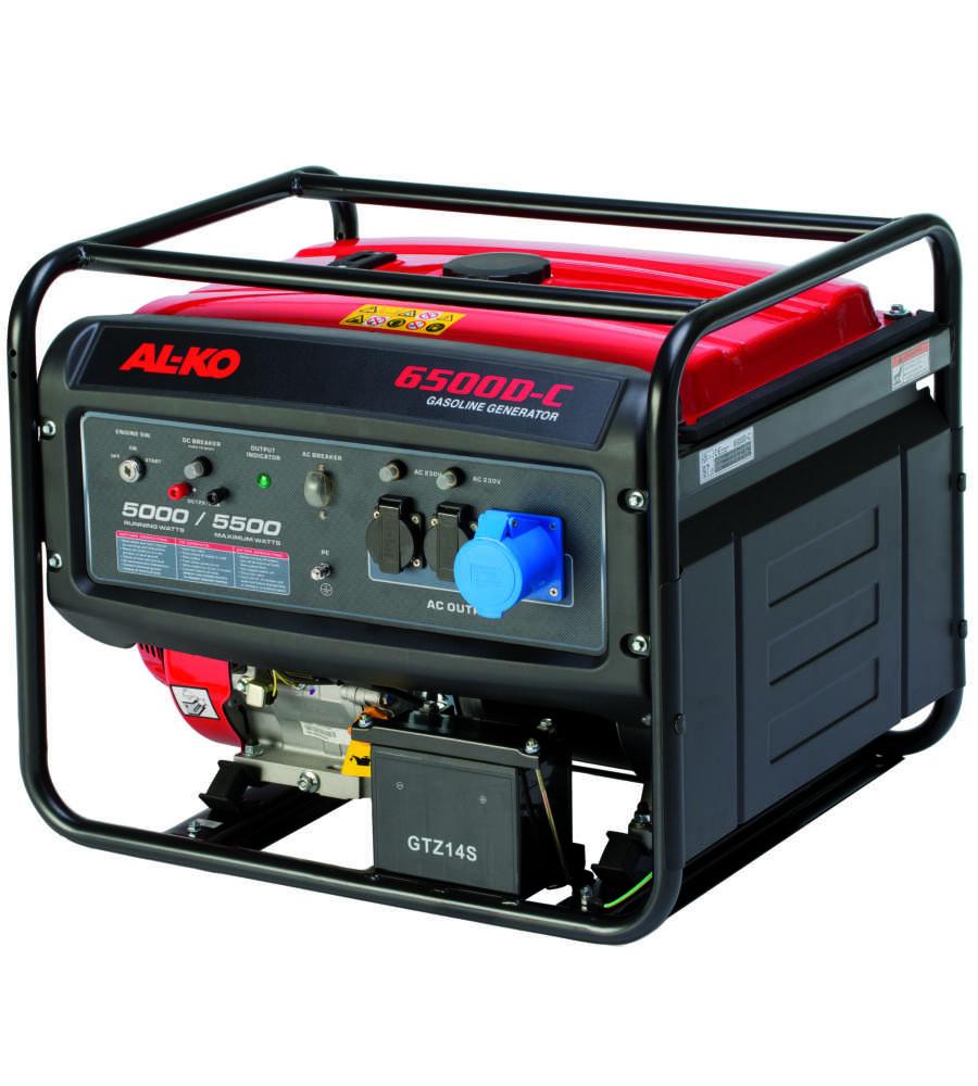 Generatore di corrente al ko 6500 c con motore 4 tempi for Generatore di corrente lidl