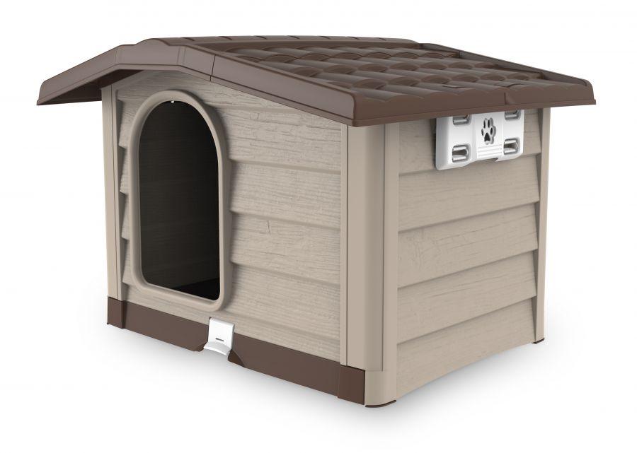 cuccia per cani bungalow beige 89x75x62h bama