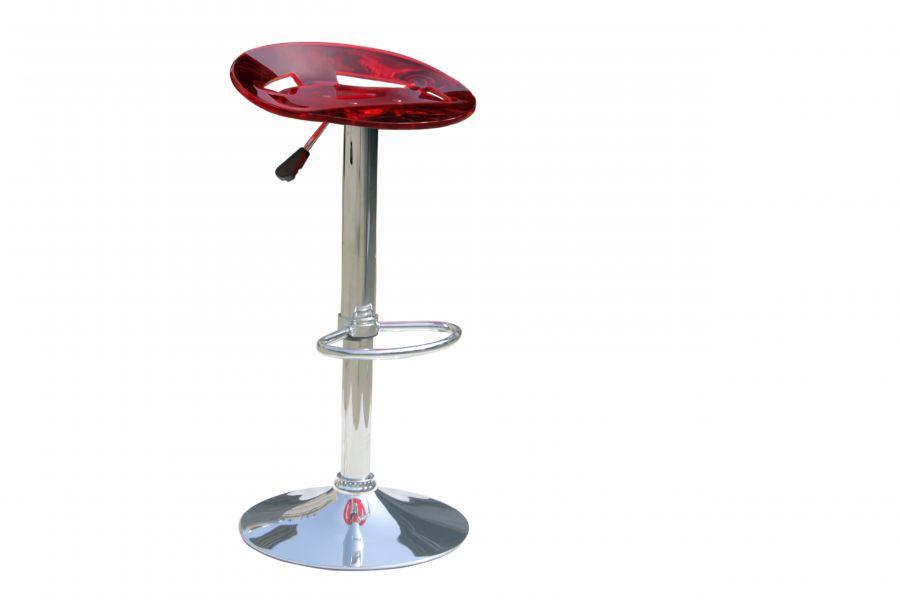 Offerta npo sgab crom seduta acrilico rosso