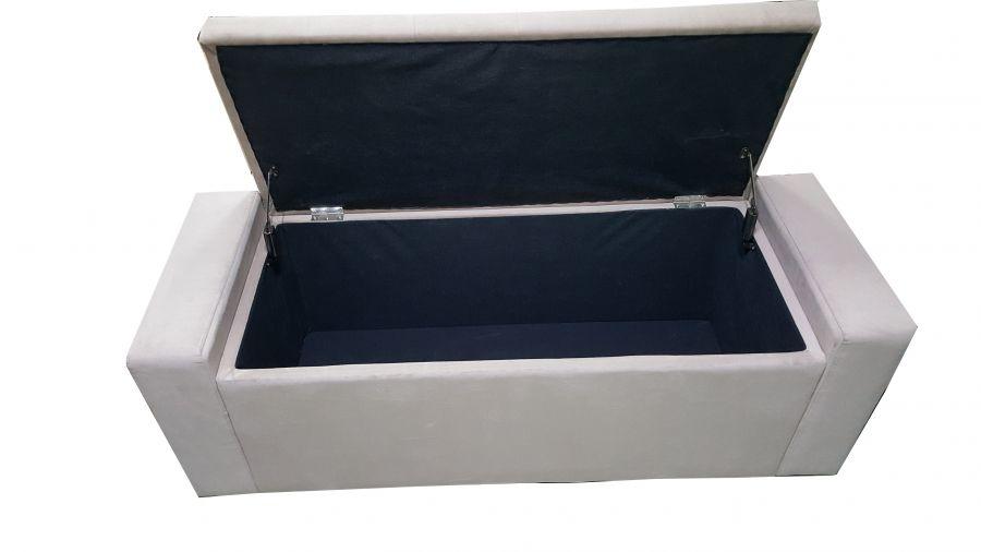 Panca Contenitore Tessuto : Offerta panchina tortora contenitore
