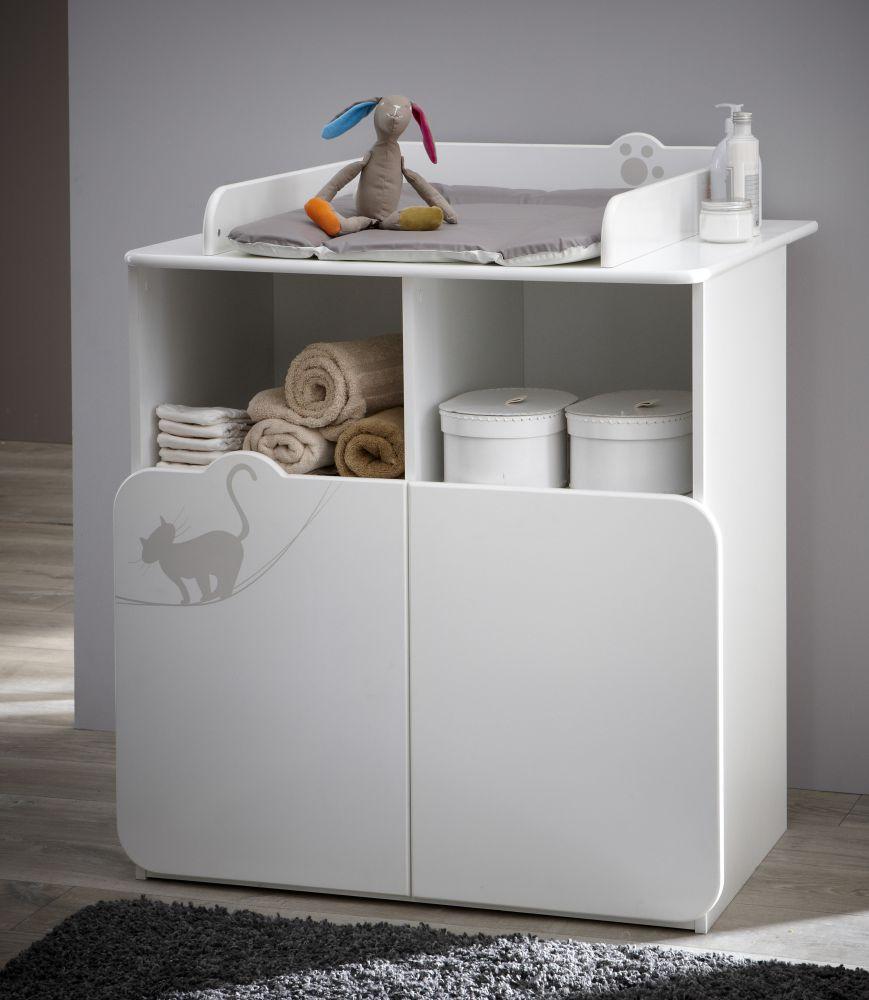 mobile con fasciatoio removibile bianco kitty. Black Bedroom Furniture Sets. Home Design Ideas