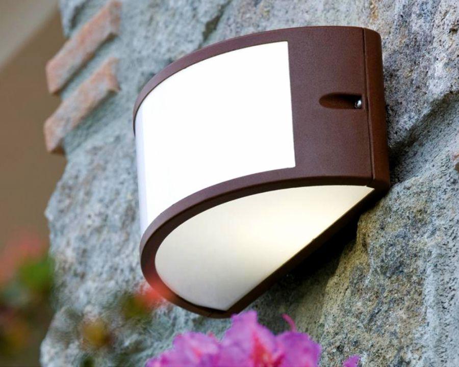 Applique aperta in alluminio per esterno colore corten