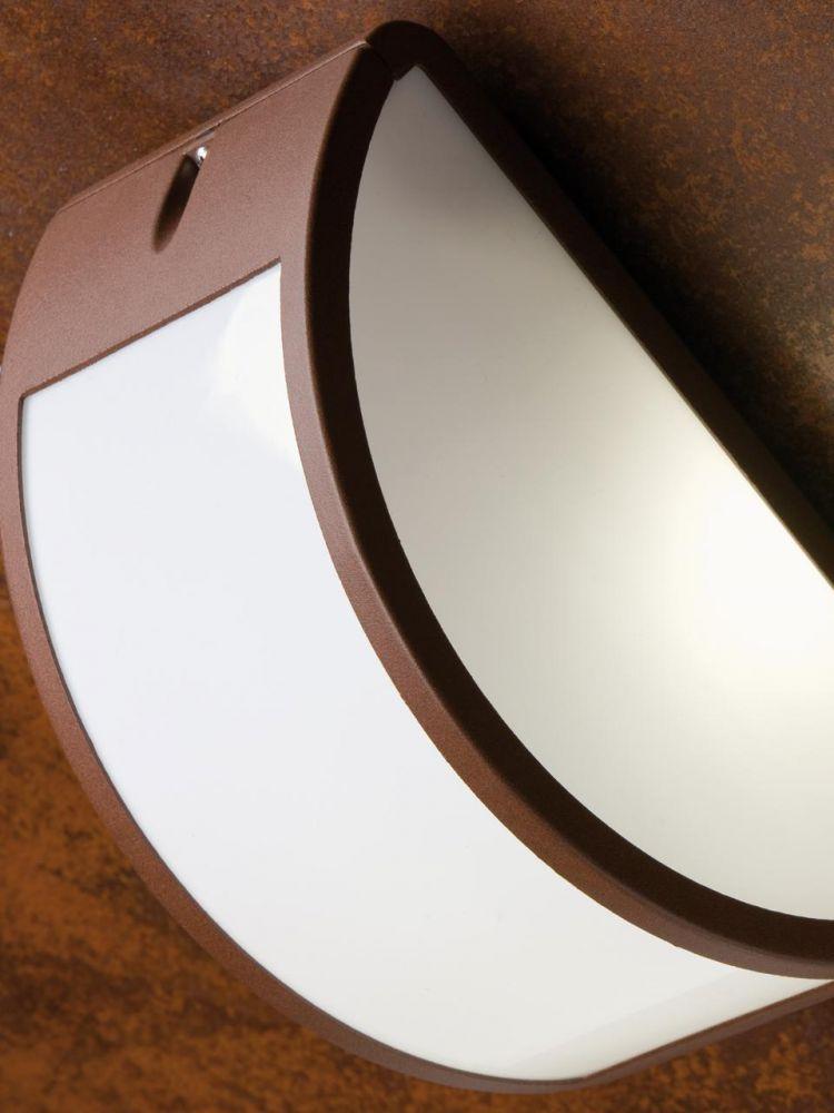 Applique aperta in alluminio per esterno colore corten for Applique da esterno leroy merlin