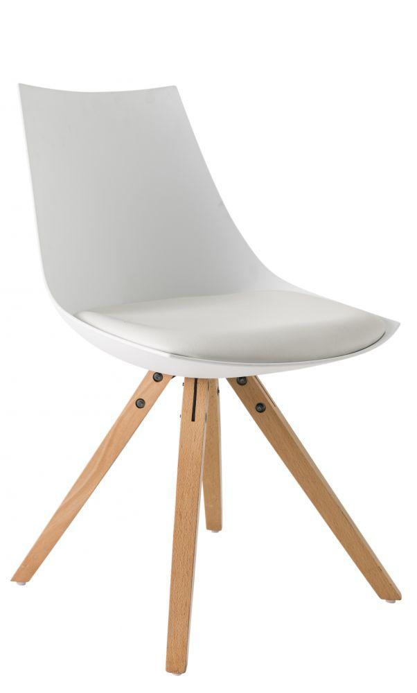 Sedia moderna bianca modello milano for Sedia bianca moderna
