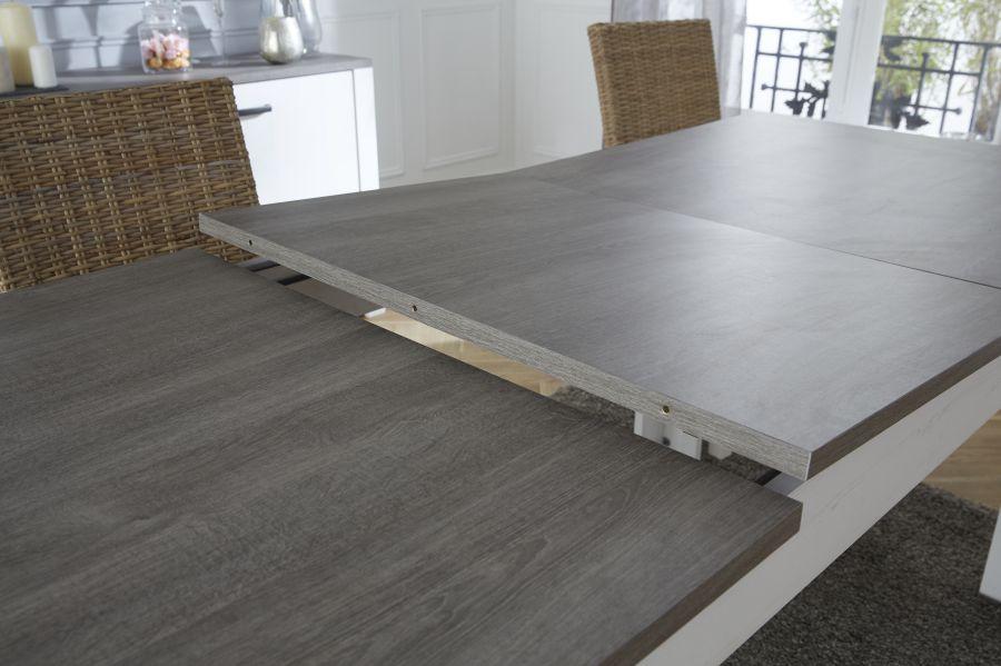 Tavolo Da Pranzo Allungabile Da 170 A 230 Cm Colore Pino Bianco E ...