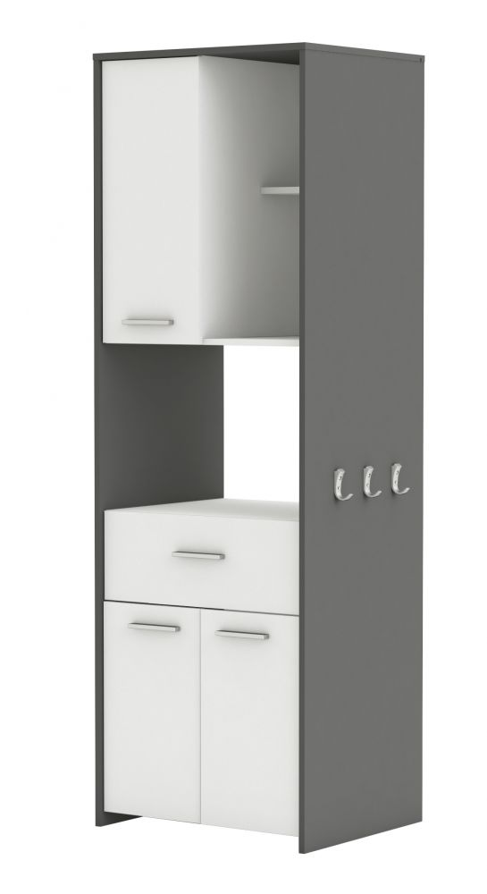 mobile porta microonde colore bianco e grigio. Black Bedroom Furniture Sets. Home Design Ideas