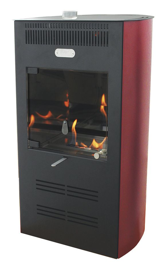 Stufa a bioetanolo ruby elegance ventilata colore bordeaux for Stufe a bioetanolo amazon