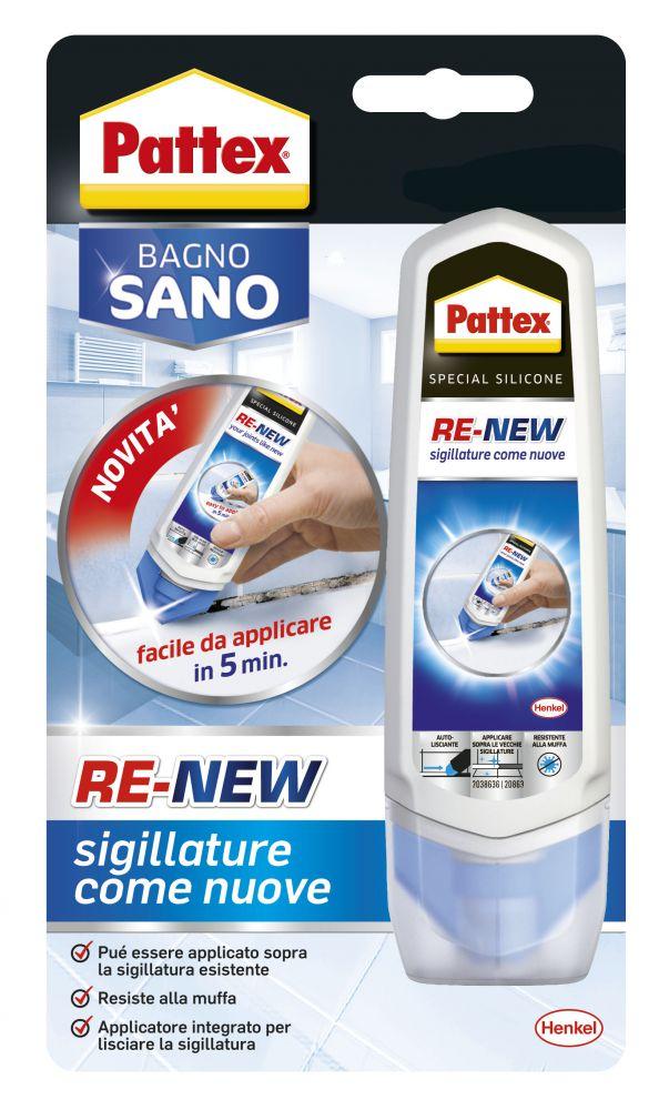 Pattex bagno sano re new rinnova fughe 100 ml - Sigillare fughe piastrelle doccia ...