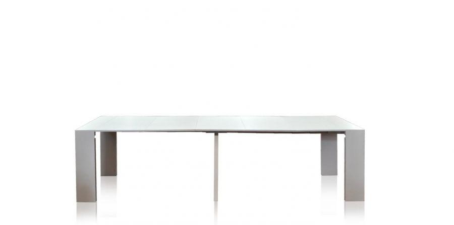 Tavolo bianco laccato allungabile da 40 cm a 3 metri made in italy - Tavolo allungabile 3 metri ...