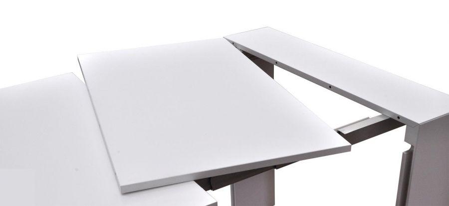 Tavolo bianco laccato allungabile da 40 cm a 3 metri for Tavolo bianco laccato
