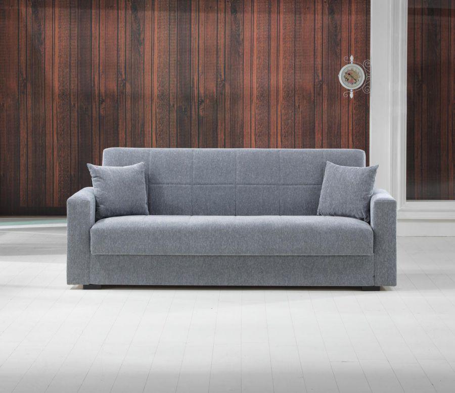 divano letto nora 3 posti colore grigio l2120 x h830 x p730