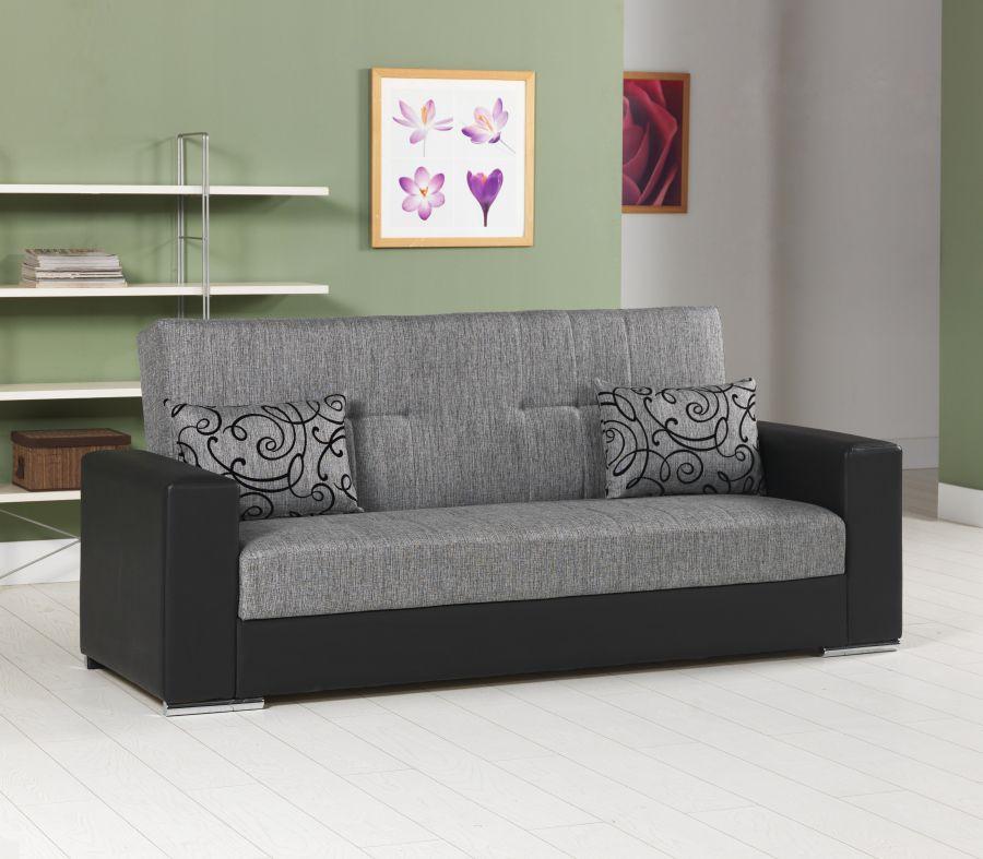 Divano letto 3 posti padova colore grigio con ecopelle for Divano 90 euro