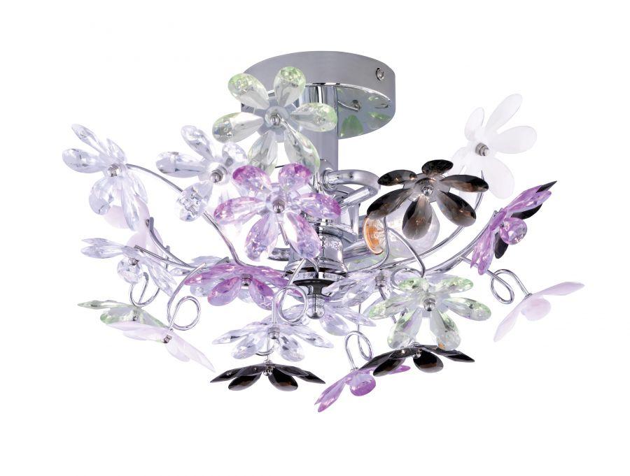 Flower applique fiori trasparenti e multicolor
