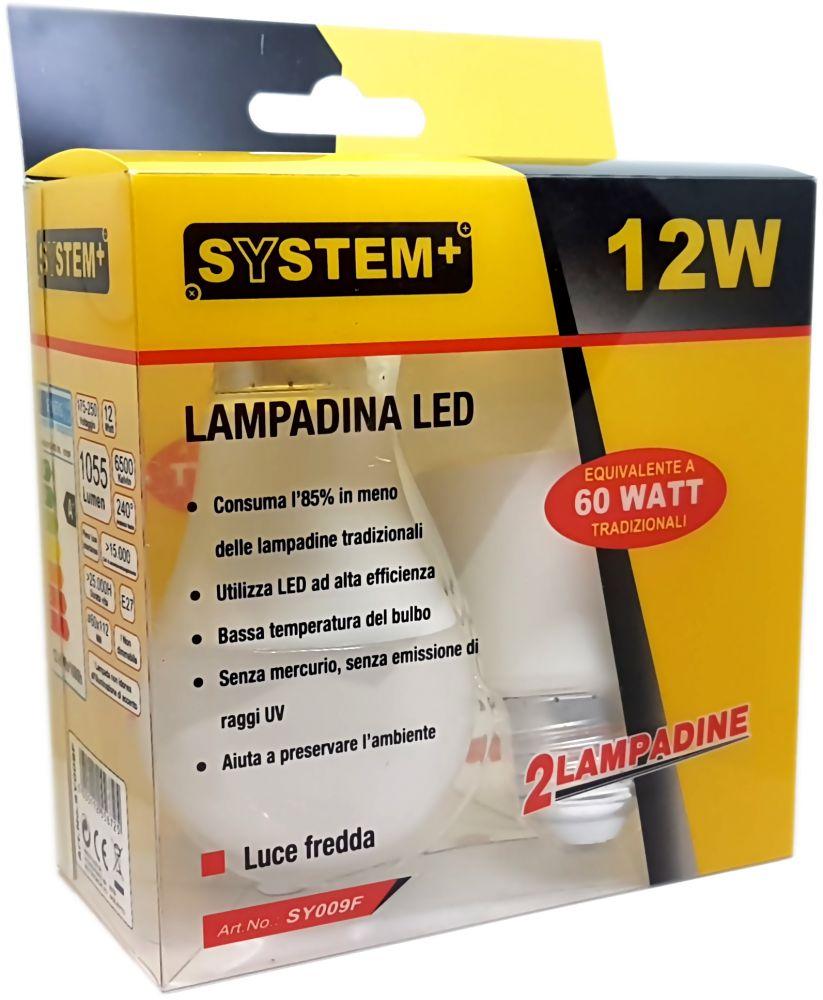offerta set 2 lampadine a led 12w e27 luce calda