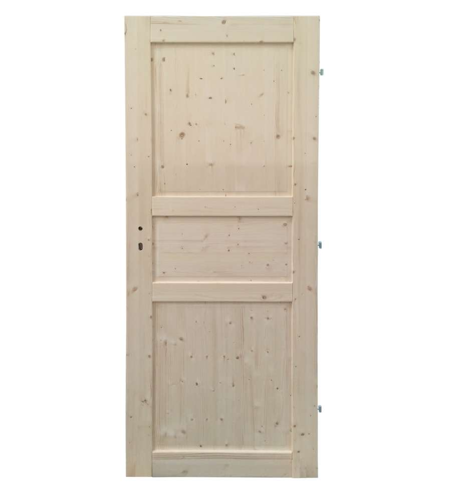 Porta Normandia Reversibile In Abete 80 X 200 Cm