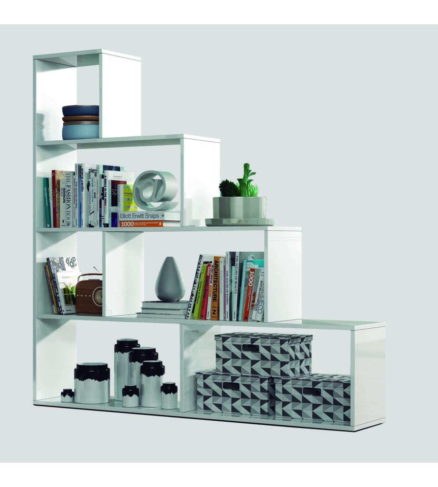 Libreria scaletta klum bianco lucido 145 x 145 x 29 cm - Estanterias de pared amazon ...