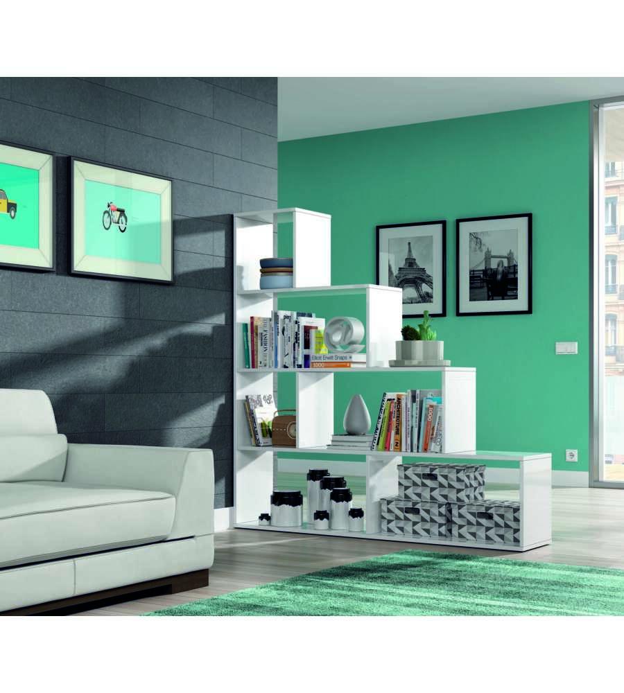 Libreria scaletta klum bianco lucido 145 x 145 x 29 cm - Libreria a scaletta ...