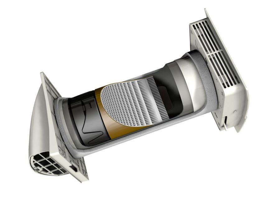 Ventilatore aria fresca con scambiatore di calore menv180 - Ricircolo aria casa ...