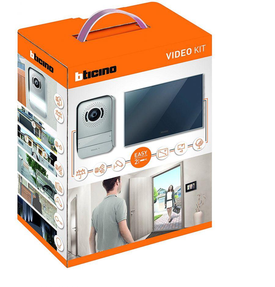 bticino kit videocitofono 2 fili finitura a specchio con