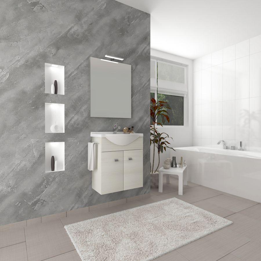 Composizione bagno sospesa zaffiro colore rovere bianco for Composizione bagno offerte