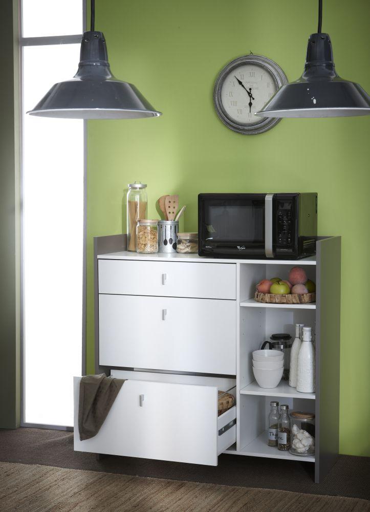 mobile da cucina bianco basalto modello battery. Black Bedroom Furniture Sets. Home Design Ideas