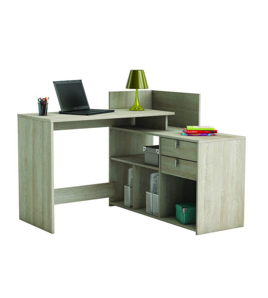 scrivania ad angolo colore imitazione quercia. Black Bedroom Furniture Sets. Home Design Ideas