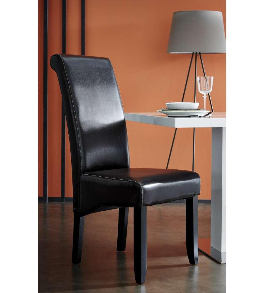 Sedia moderna marrone scuro modello cohiba for Sedia design marrone