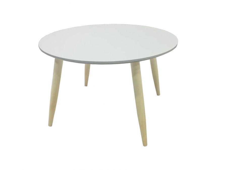 Tavolino Basso Rotondo.Tavolino Basso Bianco Rotondo Modello Manon