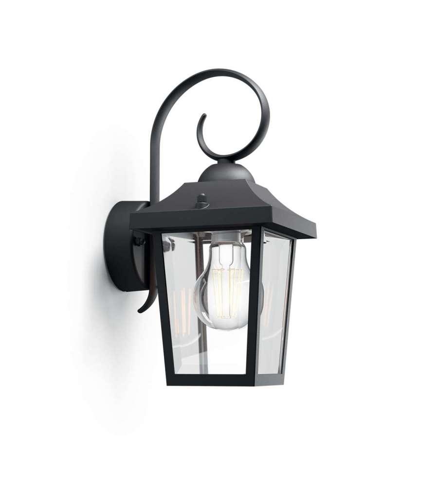 lampada a muro nero stile vintage philips buzzard