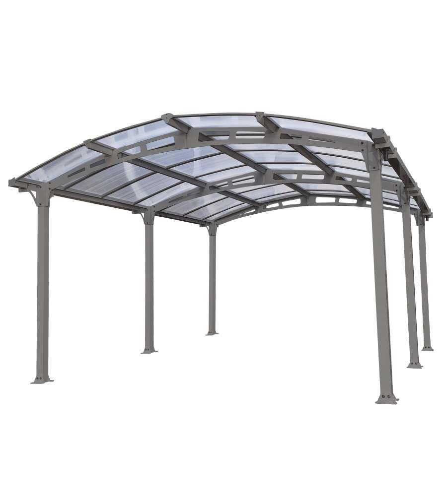 carport siena in alluminio e policarbonato alveolare 362