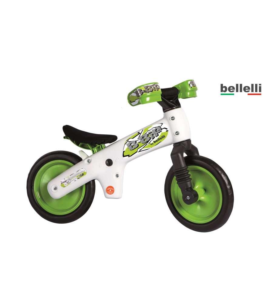 Bellelli Bicicletta Senza Pedali B Bip Bianca Verde