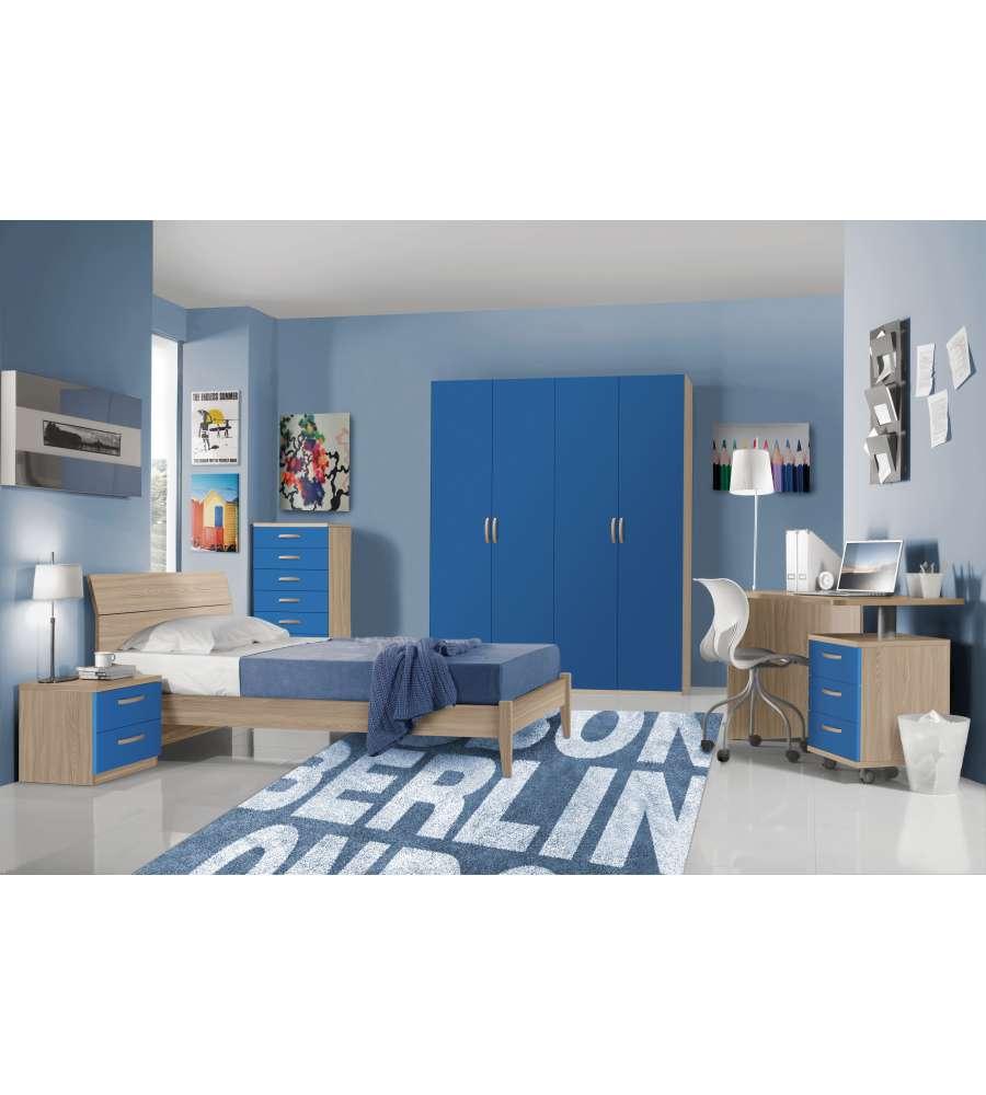 Armadio 4 ante battenti valentini finitura ante in blu for Presotto industrie mobili spa